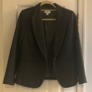 Ann Taylor Wool Blazer with detachable fur collar